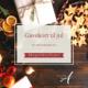 Bilde med julestemmning. Tekst: Gavekort til jul. Til den som har alt. Akupunkturhuset.