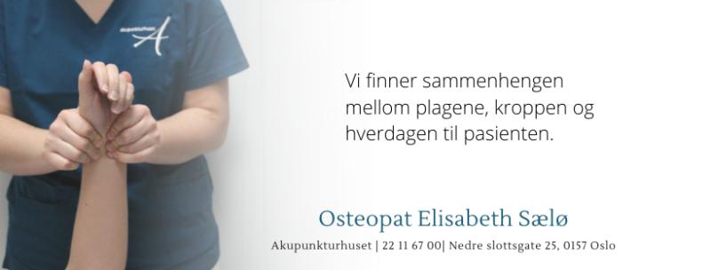 Bilde av behandling av håndledd. Tekst: vi finner sammenhengen mellom plagen, kroppen og hverdagen til pasienten.